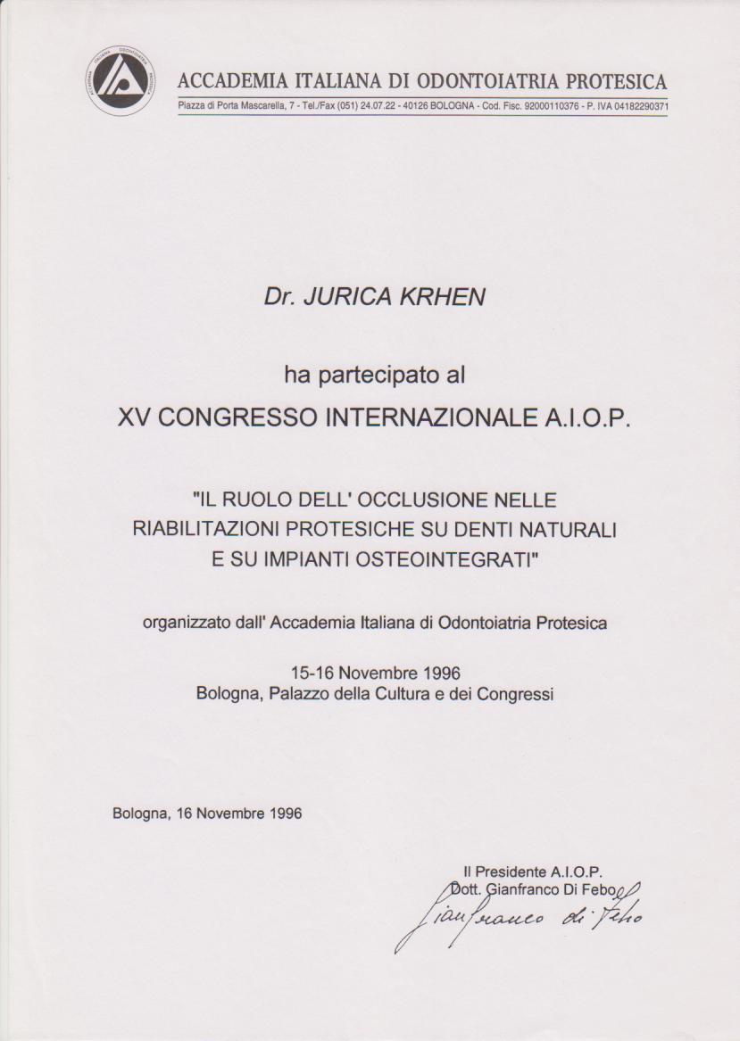 AIOP kongres 1996