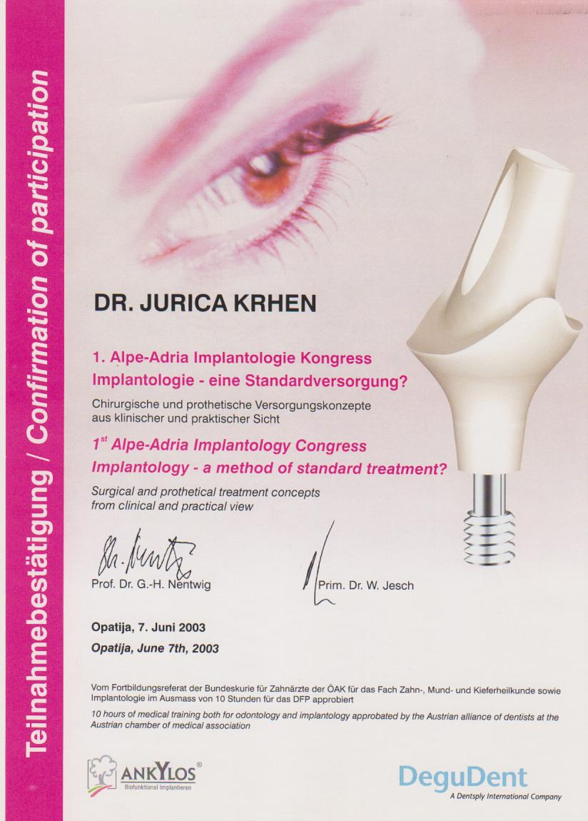 Alpe-Adria Implantology Congress 2003