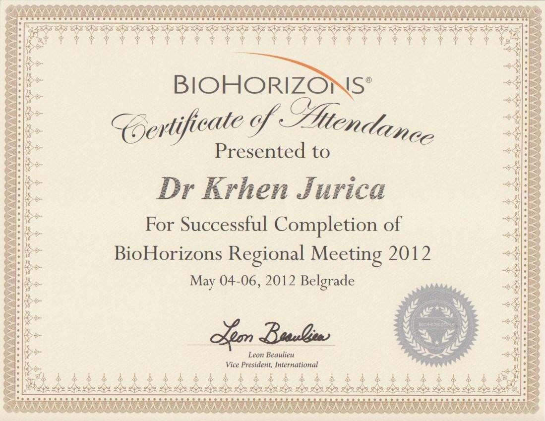 Biohorizons Beograd 2012