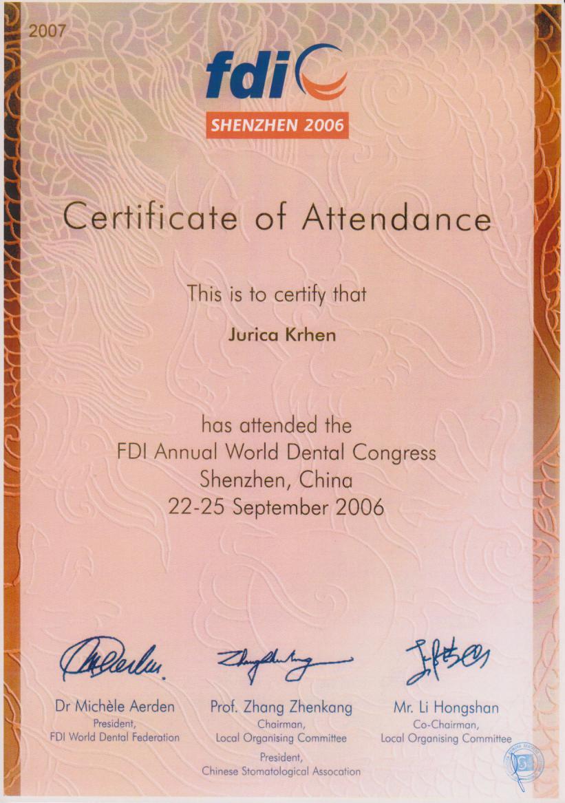 FDI Schenzen 2006
