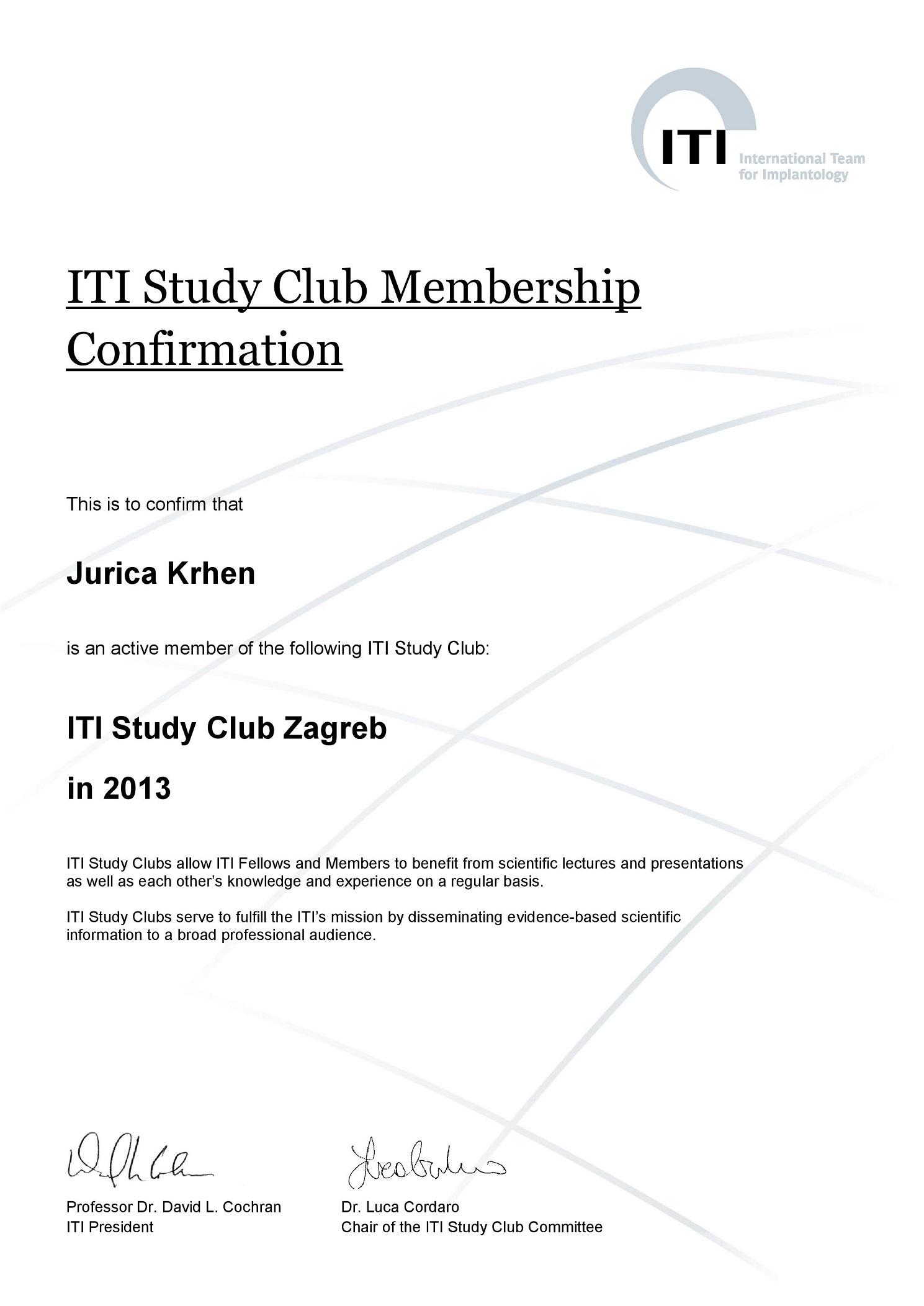 ITI Study Club 2013