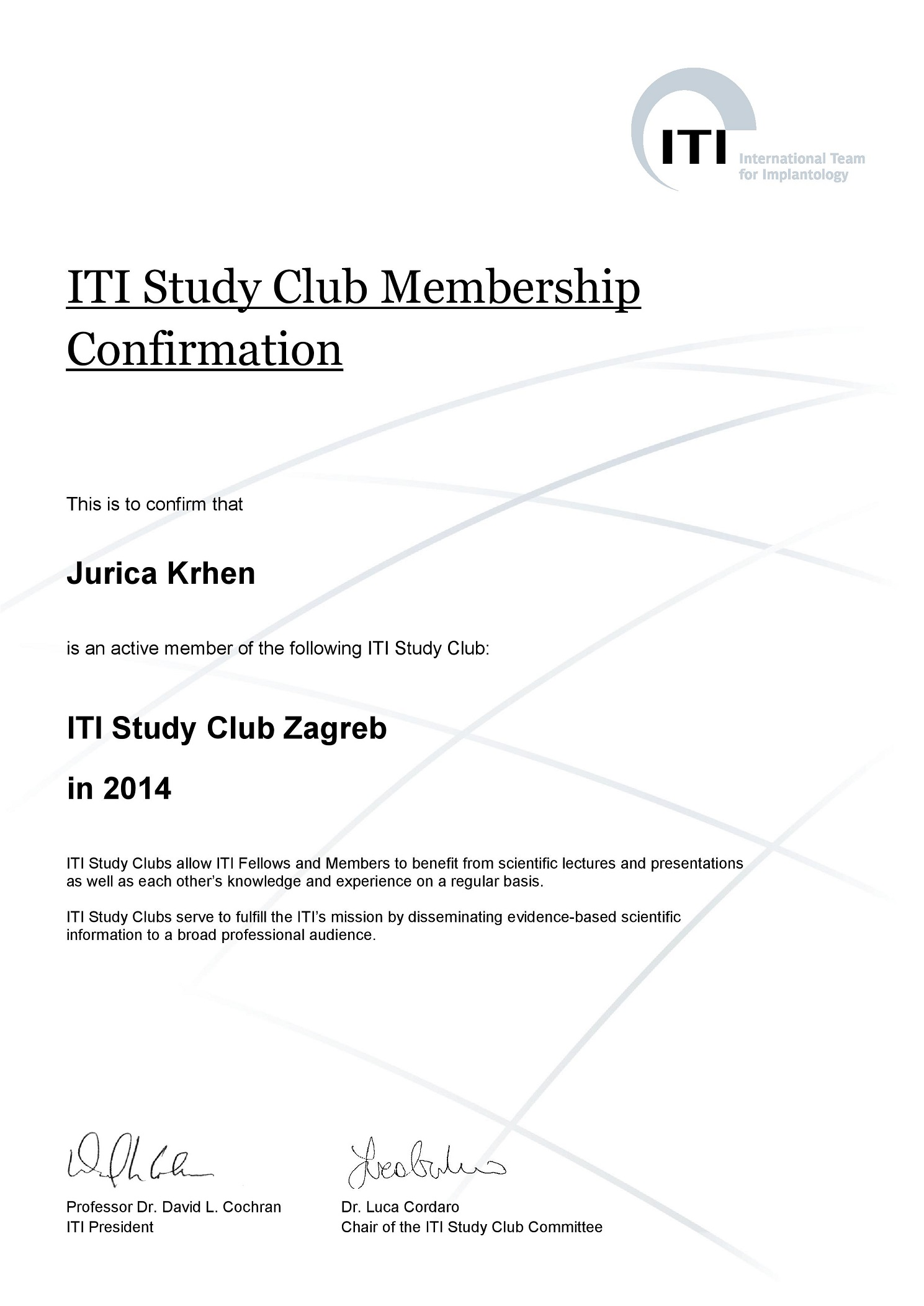 ITI Study Club 2014