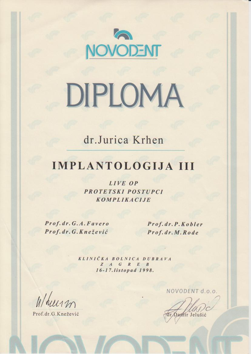 Implantologija III 1998