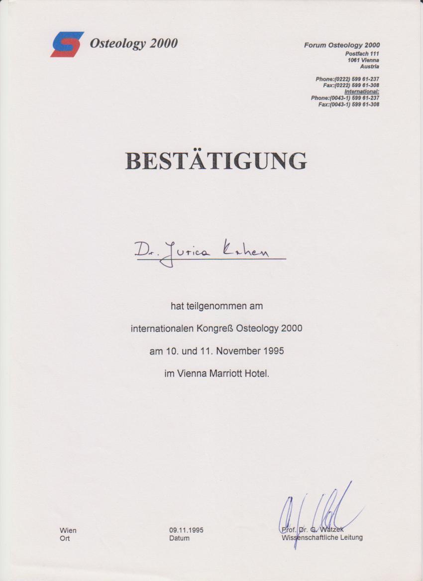Osteology 2000 Kongress 1995