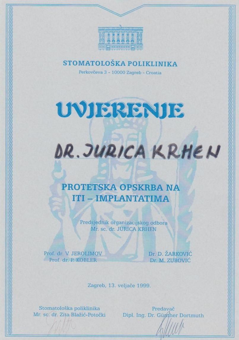 Uvjerenje ITI 1999