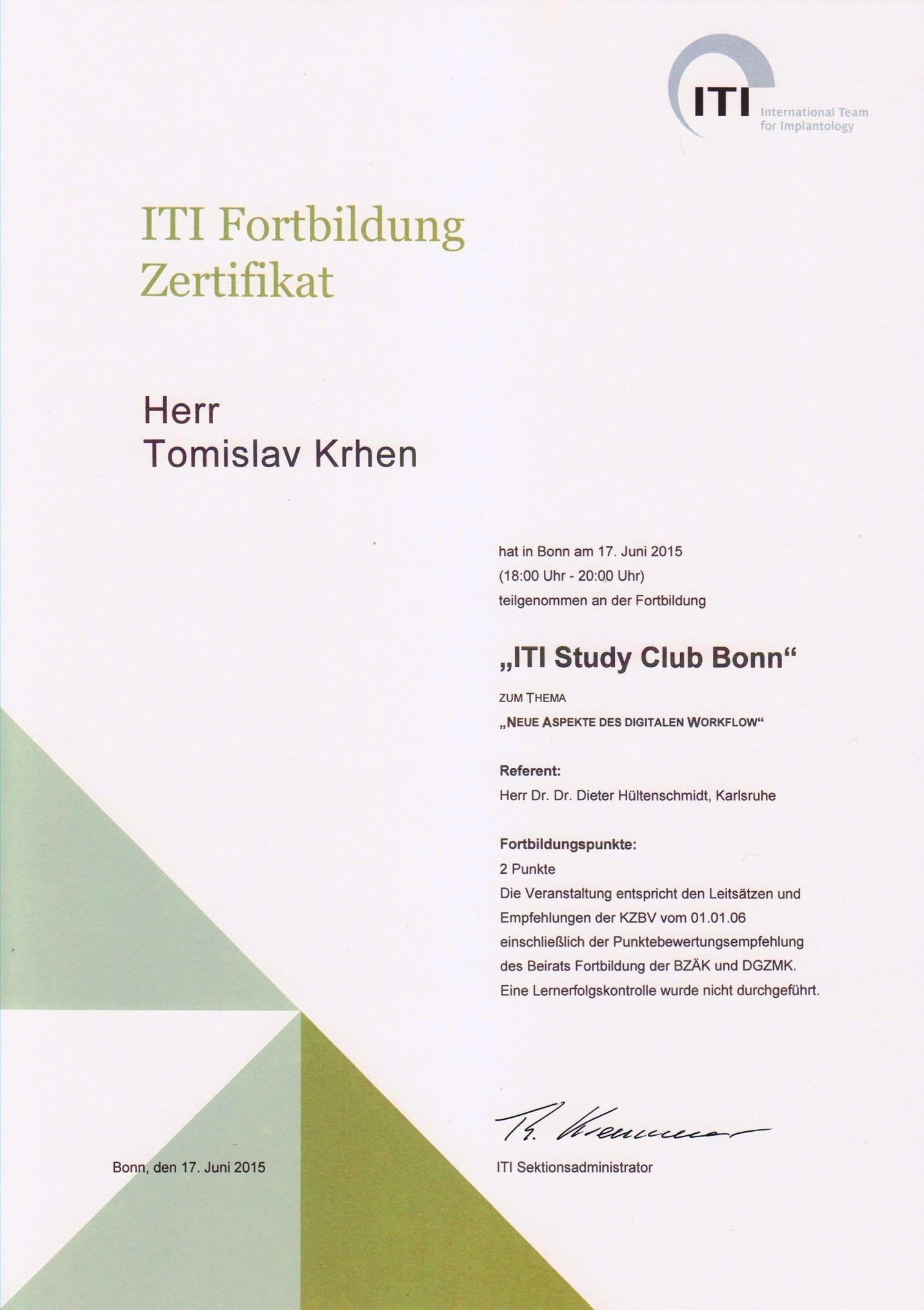 Digitalna 3D implantologija - ITI Study Club Bonn