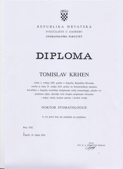 Diploma dr.med.dent