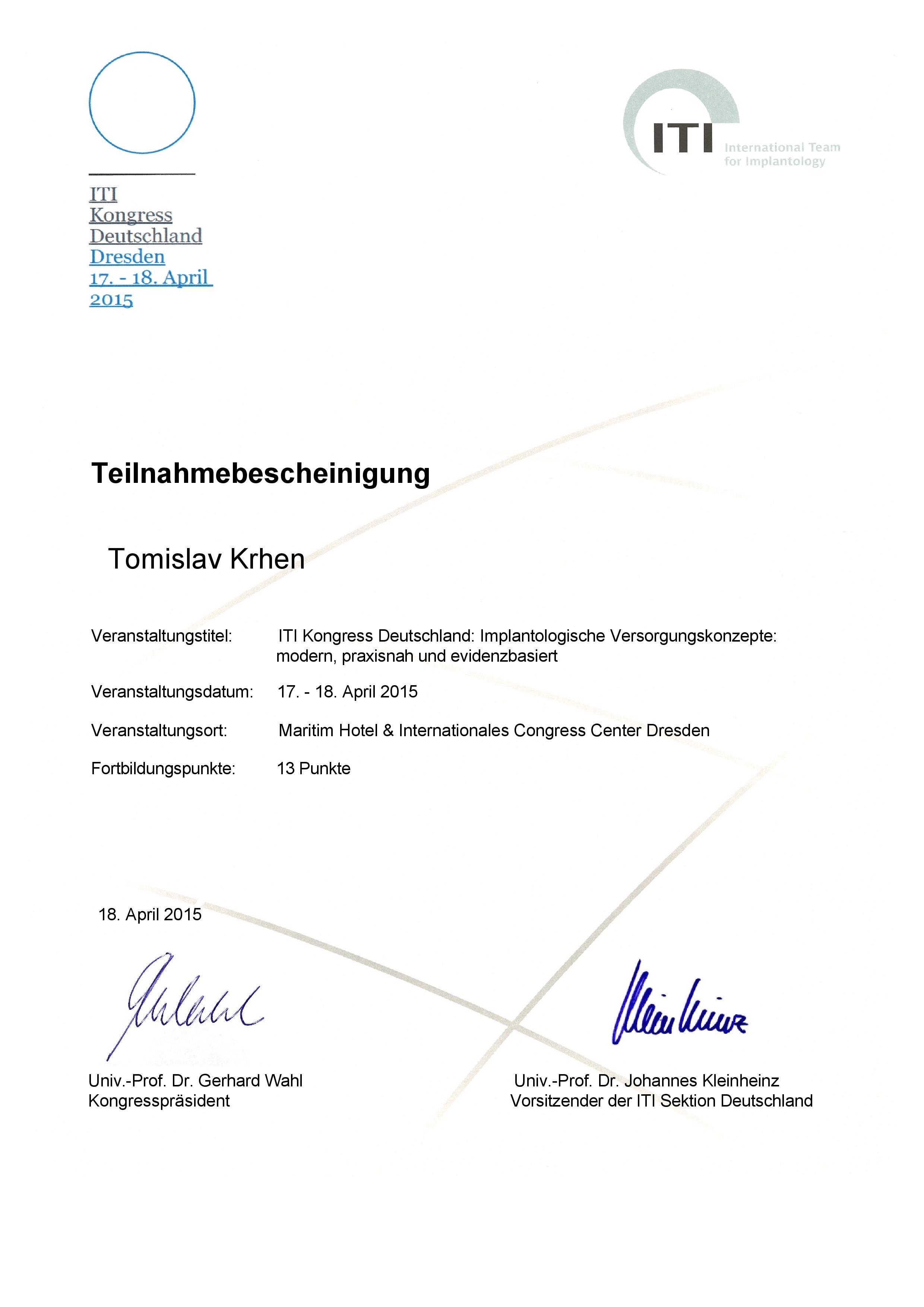 ITI Kongress Deutschland 2015
