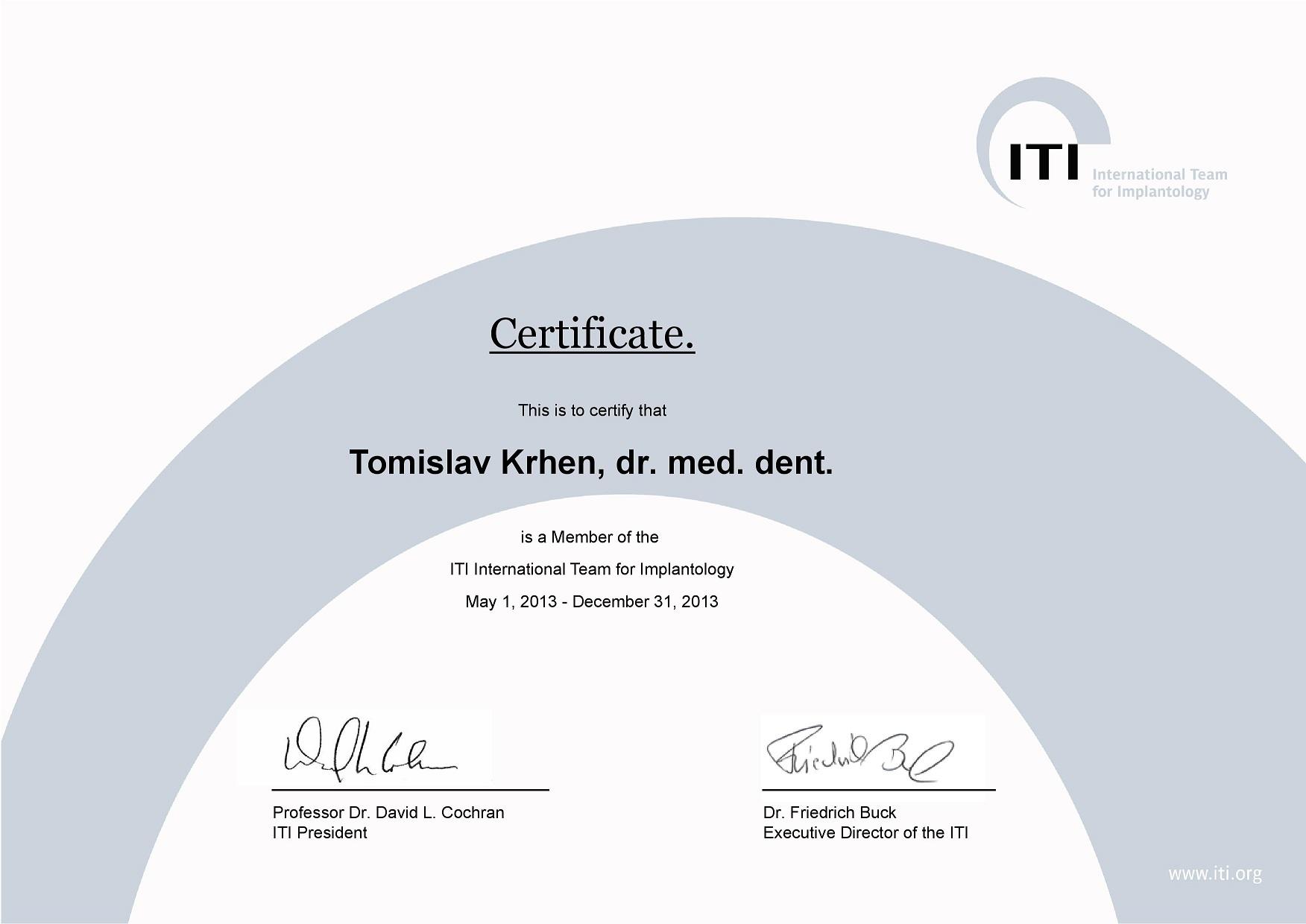 ITI Member 2013