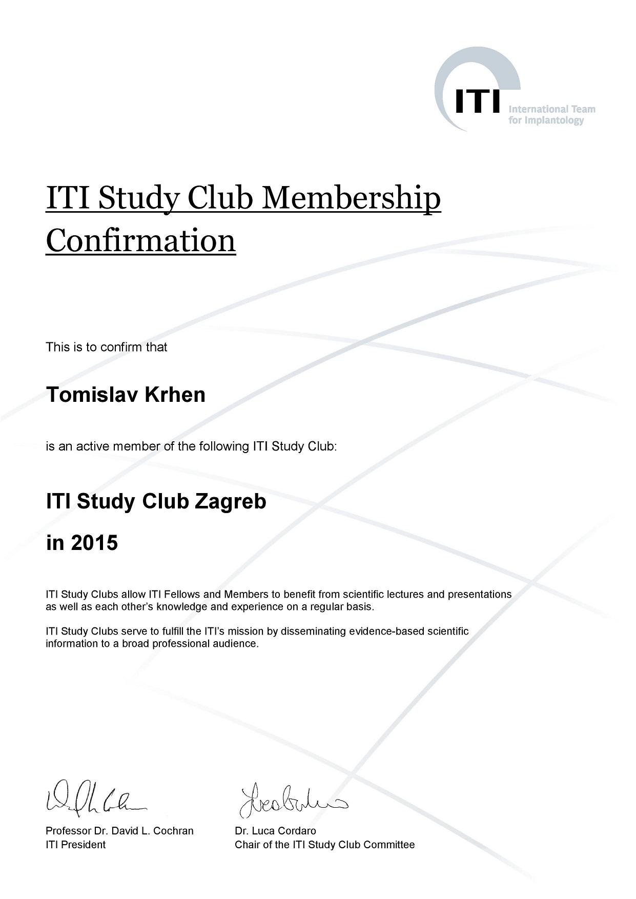 ITI Study Club 2015