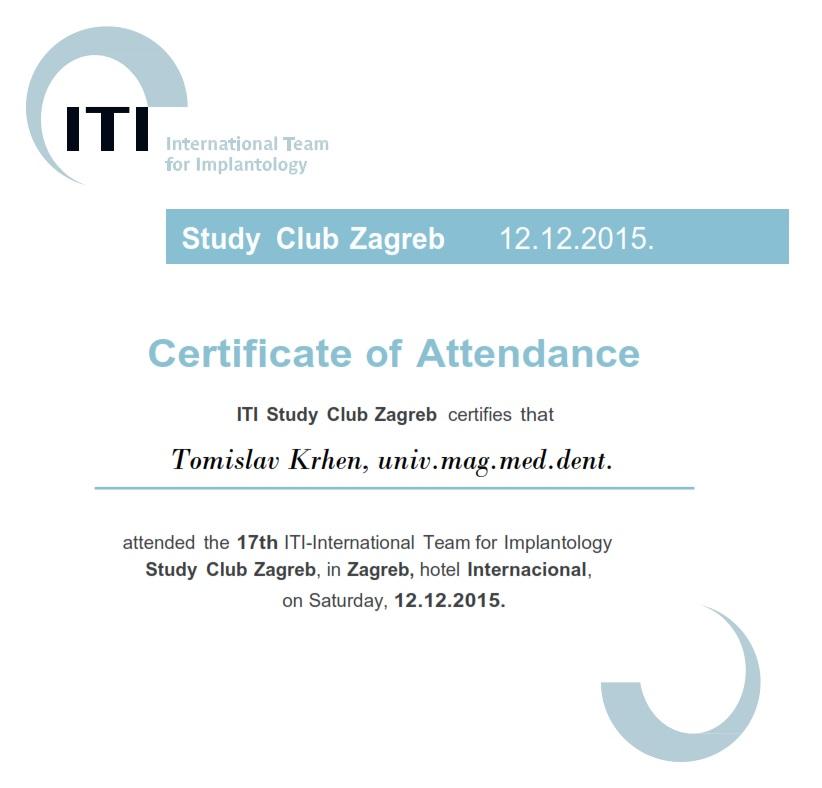 ITI Study Club Zagreb - Parodont 2015