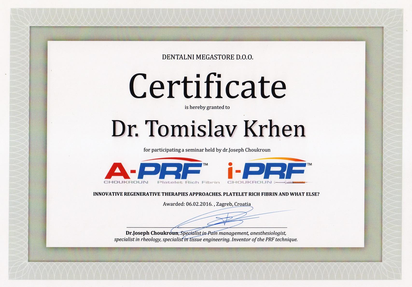 PRF u implantologiji 2016