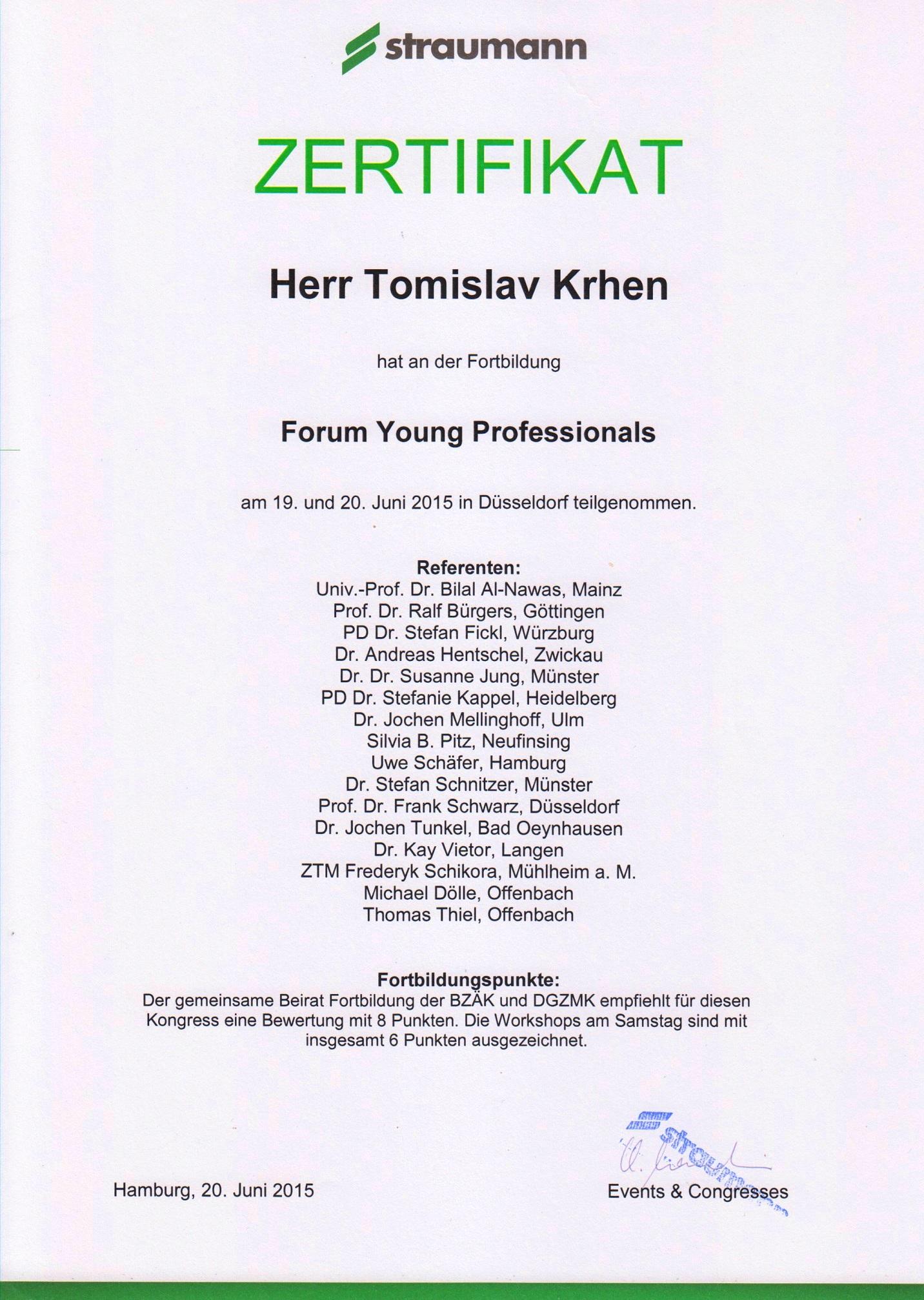 Straumann Forum Young Professionals